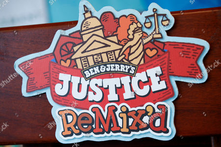Ben & Jerry's unveil the company's newest flavor Justice Remix'd during a press conference in the National Press Building in Washington, DC, USA, 03 September 2019. This flavor launch is part of Ben & Jerry's partnership with Advancement Project National Office to fight for justice for all, despite race or wealth.
