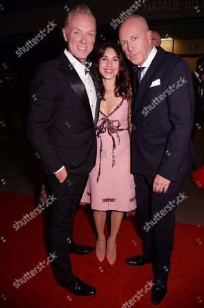 Stock Image of Gary Kemp, Lauren Kemp and Dylan Jones at the GQ Men Of The Year Awards 2019 at the Tate Modern in London.