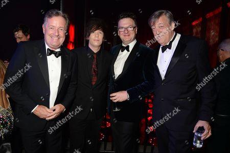Piers Morgan, Elliott Spencer, Ewan Venters and Stephen Fry