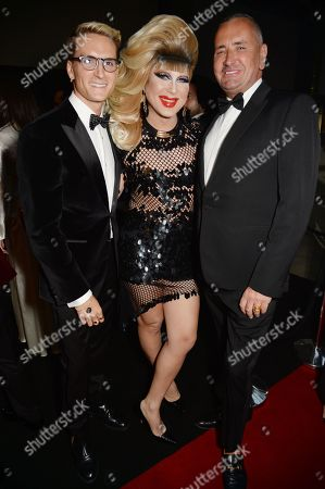 Guest, Jodie Harsh and Fat Tony at the GQ Men of the Year Awards 2019 with Haig Club at Tate Modern in London