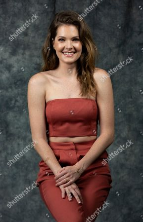 """This photo shows cast member Meghann Fahy posing to promote Freeform's """"The Bold Type"""" in Burbank, Calif"""