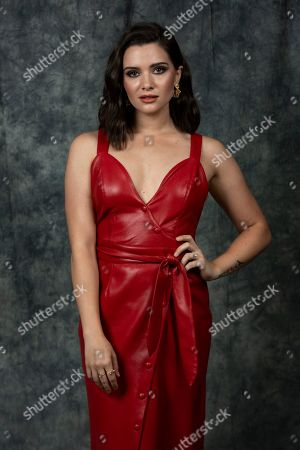 """This photo shows cast member Katie Stevens posing to promote Freeform's """"The Bold Type"""" in Burbank, Calif"""