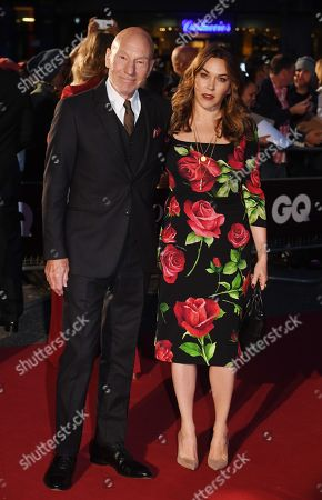 Stock Picture of Patrick Stewart and his wife Sunny Ozell arrive for the GQ Men Of The Year Awards 2019 ceremony in London, Britain, 03 September 2019. The awards are presented by international monthly men's magazine GQ.