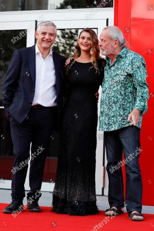 Fortunato Cerlino, Jenny De Nucci and Terry Gilliam