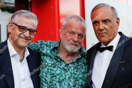 Fortunato Cerlino, Terry Gilliam and Alberto Barbera
