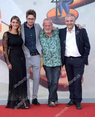 Lorenzo Giovenga, Terry Gilliam, Jenny De Nucci and Fortunato Cerlino