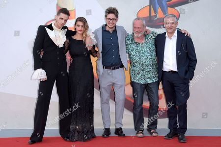 Achille Lauro, Jenny De Nucci, Lorenzo Giovenga and Terry Gilliam, Fortunato Cerlino