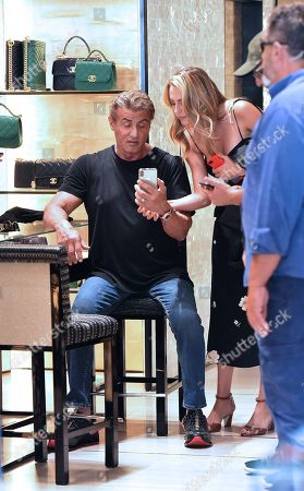 Sylvester Stallone and Sophia Rose Stallone
