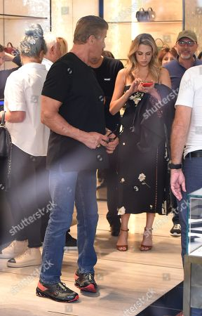 Stock Picture of Sylvester Stallone and Sophia Rose Stallone