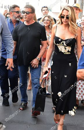 Stock Photo of Sylvester Stallone and Sophia Rose Stallone