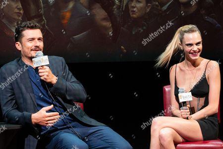 Orlando Bloom and Cara Delevingne