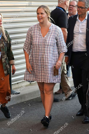 Amy Schumer attends the quarterfinals of the U.S. Open tennis championships, in New York