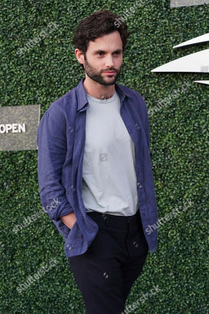 Penn Badgley attends the quarterfinals of the U.S. Open tennis championships, in New York