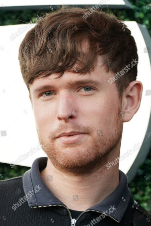 James Blake attends the quarterfinals of the U.S. Open tennis championships, in New York