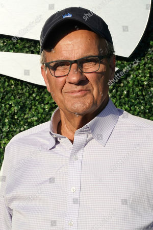 Joe Torre attends the quarterfinals of the U.S. Open tennis championships, in New York