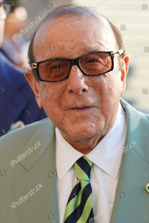 Clive Davis attends the quarterfinals of the U.S. Open tennis championships, in New York