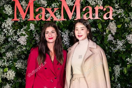 Max Mara US Director of Retail Maria Giulia Prezioso Maramotti and Han Ji-hye
