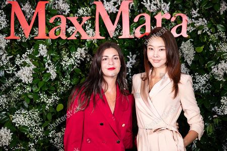 Stock Photo of Max Mara US Director of Retail Maria Giulia Prezioso Maramotti and Han Ji-hye