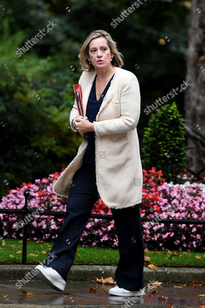 Amber Rudd, Secretary of State for Work and Pensions, arrives at No.10 Downing Street, London.