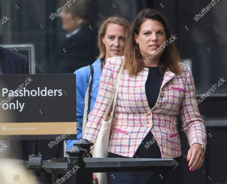 Conservative MP Caroline Nokes is seen at the Houses of Parliament in Westminster, London.