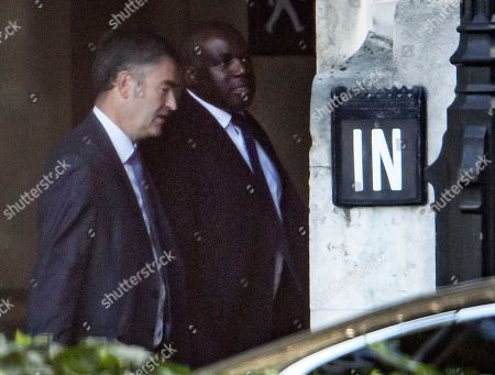 David Gauke MP (L) And David Lammy MP (R) are seen in conversation at the Houses of Parliament in Westminster, London.