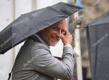 Stephen Kinnock MP is seen in Westminster, London.