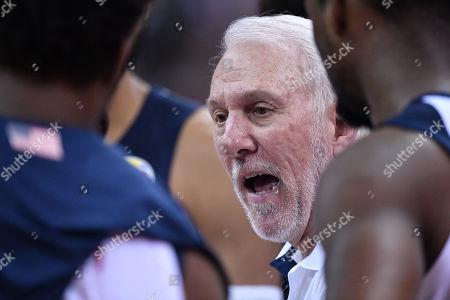 Gregg Popovich Head Coach (USA) - Basketball : FIBA Basketball World Cup China 2019 Group E match between United States 93-92 Turkey at Shanghai Oriental Sports Center
