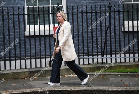 Secretary of State for Work and Pensions Amber Rudd arrives for a political cabinet in London, Britain, 04 September 2019. MPs will vote on a bill forcing Prime Minister Boris Johnson to delay Brexit unless MPs back a new deal or vote for a no-deal exit. The Prime Minister will table a motion to call for a general election if that bill passes.