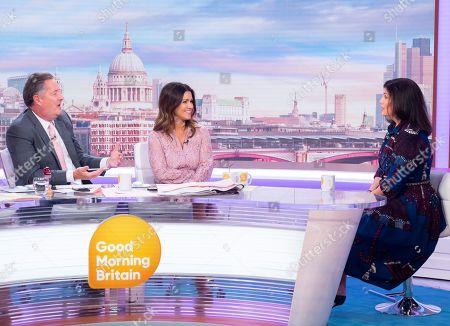 Piers Morgan and Susanna Reid with Kirstie Allsopp