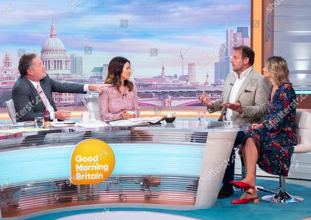 Piers Morgan, Susanna Reid, Duncan Larcombe and Vicountess Julie Montagu