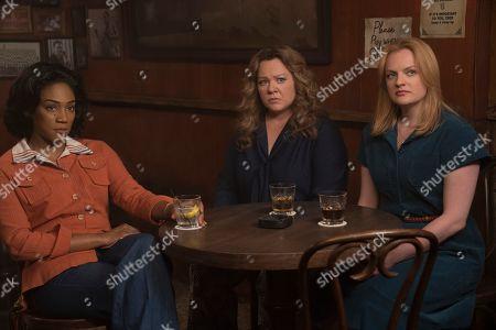 Tiffany Haddish as Ruby O'Carroll, Melissa McCarthy as Kathy Brennan and Elisabeth Moss as Claire Walsh