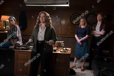 Tiffany Haddish as Ruby O'Carroll, Melissa McCarthy as Kathy Brennan, Elisabeth Moss as Claire Walsh and Domhnall Gleeson as Gabriel O'Malley