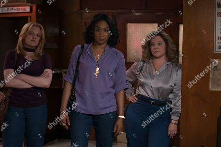 Stock Picture of Elisabeth Moss as Claire Walsh, Tiffany Haddish as Ruby O'Carroll and Melissa McCarthy as Kathy Brennan