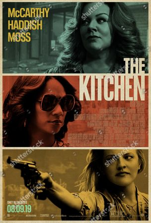 The Kitchen (2019) Poster Art. Melissa McCarthy as Kathy Brennan, Tiffany Haddish as Ruby O'Carroll and Elisabeth Moss as Claire Walsh