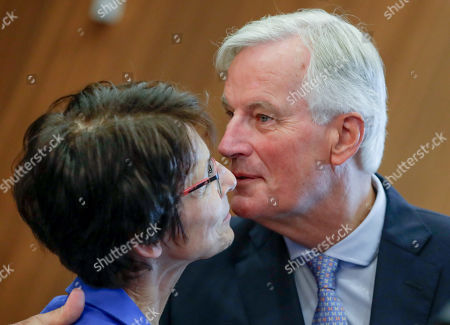 European Commissioner for Employment, Social Affairs, Skills and Labour Mobility Marianne Thyssen (L) and European Union chief Brexit negotiator Michel Barnier attend the weekly college meeting of the European Commission in Brussels, Belgium, 04 September 2019.