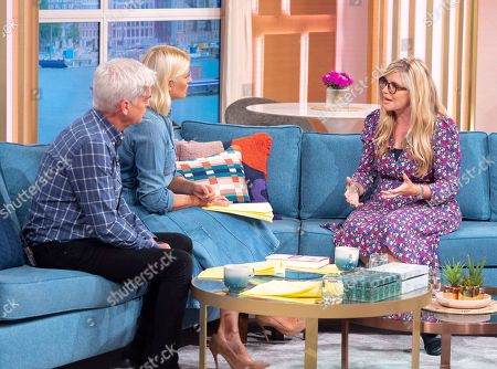 Stock Image of Phillip Schofield and Holly Willoughby with Emma Barnett
