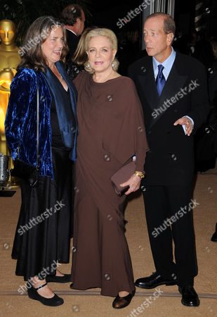 Stock Image of Lauren Bacall with Stephen Bogart and  Leslie Bogart