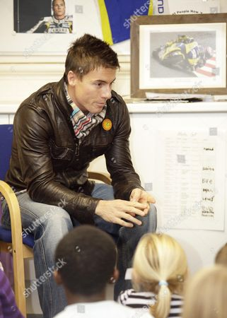 Editorial image of James Toesland attends a talk at Woodston Primary School, Peterborough, Britain - 13 Nov 2009