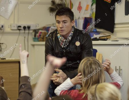 Editorial photo of James Toesland attends a talk at Woodston Primary School, Peterborough, Britain - 13 Nov 2009