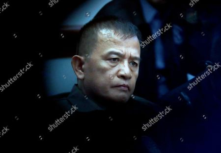 On, Nicanor Faeldon, the Director General of the Bureau of Corrections, testifies before the Senate Committee on Justice and Human Rights on his role in the failed release of former Mayor Antonio Sanchez, who was convicted in the rape and murders of two students in 1993, in suburban Pasay city south of Manila, Philippines. Philippine President Rodrigo Duterte has fired Faeldon Wednesday, Sept. 4, 2019 amid a public outcry over the release of hundreds of prisoners, including convicted rapists and drug traffickers, through a law rewarding good behavior in detention
