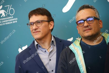 Anthony Russo, Joe Russo. Producers Anthony Russo, left, and Joe Russo pose for photographers at the photo call for the film 'Mosul' at the 76th edition of the Venice Film Festival in Venice, Italy