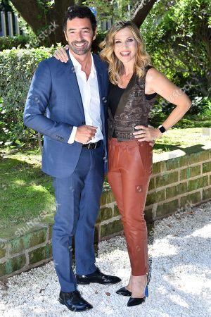 Stock Picture of Alberto Matano and Lorella Cuccarini