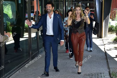 Alberto Matano and Lorella Cuccarini