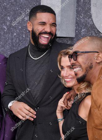 Drake, Lisa Dwan and Shone Romulus