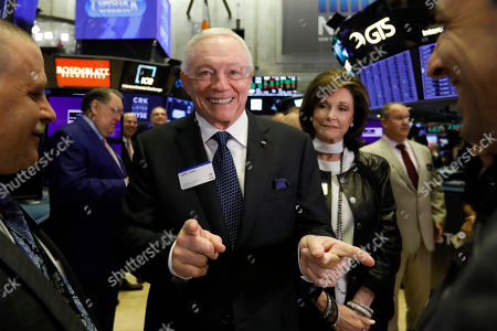 Jerry Jones, Gene Jones. Dallas Cowboys owner, and major stockholder of Comstock Resources Jerry Jones, with wife Gene, visits the New York Stock Exchange trading floor before ringing the opening bell, . The company is celebrating its $2.2 billion acquisition of Covey Park Energy