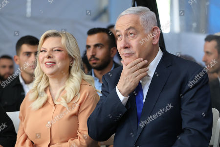 Israeli Prime Minister Benjamin Netanyahu and his wife Sara attend a memorial ceremony marking the 90th anniversary of the 1929 Hebron massacre events at the Cave of the Patriarchs in the West Bank city of Hebron, 04 September 2019. The Hebron massacre refers to the killing of 67 Jews in 1929 during the Palestinians riot events following a dispute between Jews and Muslims over the access to the Western Wall by Jewish worshipers.