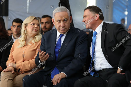 Editorial picture of Israeli Prime Minister Benjamin Netanyahu attends a memorial in Hebron, - - 04 Sep 2019
