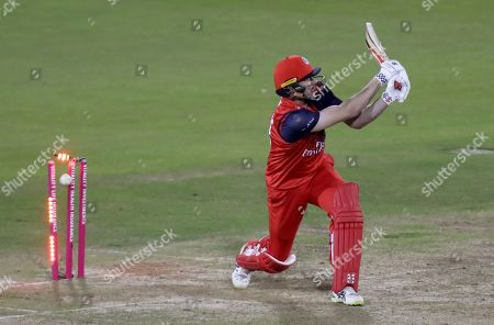 James Faulkner of Lancashire is bowled by Aaron Beard during Lancashire Lightning vs Essex Eagles, Vitality Blast T20 Cricket at the Emirates Riverside on 4th September 2019