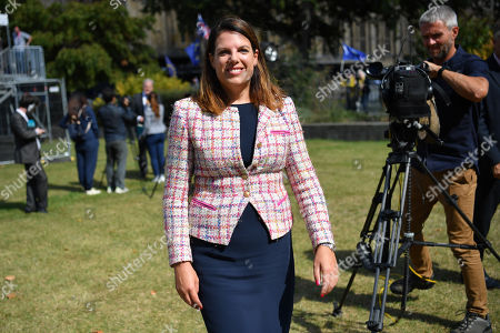 Stock Picture of Caroline Nokes MP on College Green, Westminster.
