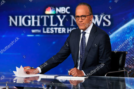"This photo shows Lester Holt, anchor of ""NBC Nightly News,"" and host of ""Dateline NBC"" on the set of his weekday evening news set in New York. Holt spent a couple of nights locked up in Louisiana's notorious Angola prison earlier this year for a ""Dateline NBC"" episode about criminal justice reform. The episode airs Friday night on NBC"